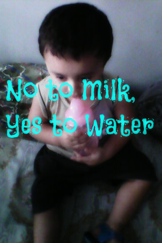 No to Milk, Yes to Water