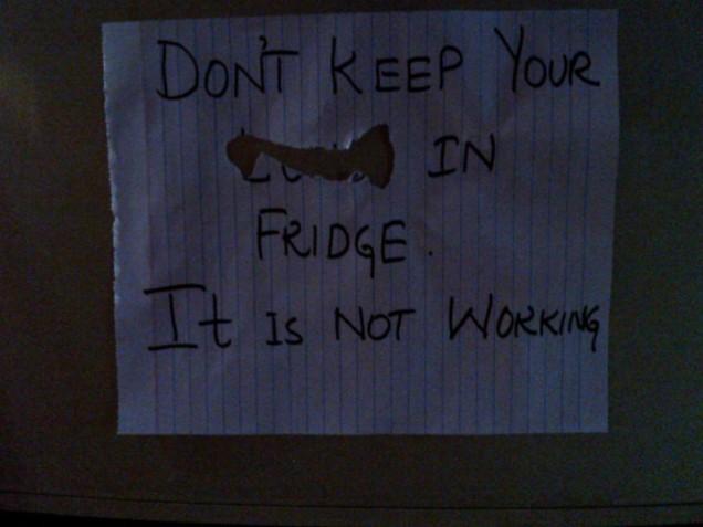 Fridge Note