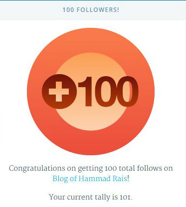 100 follows