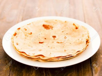13605588-close-up-of-a-plate-of-indian-chapati-bread-stock-photo-chapati