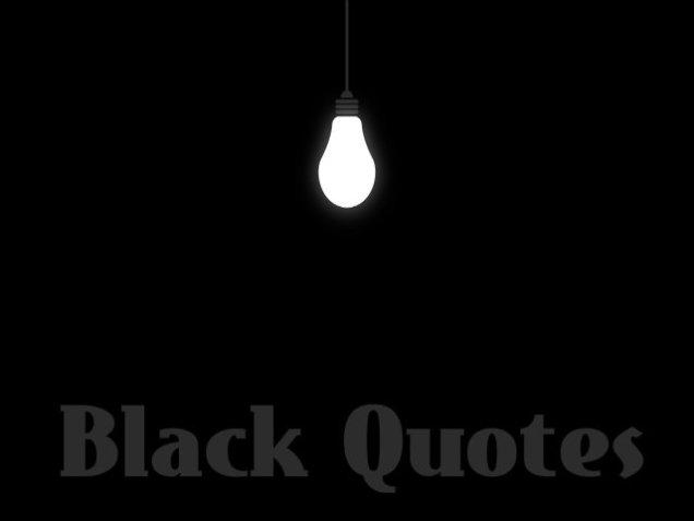 black quotes