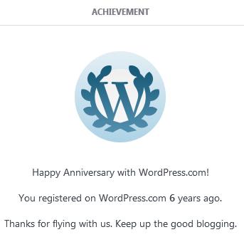 6th Blogversary